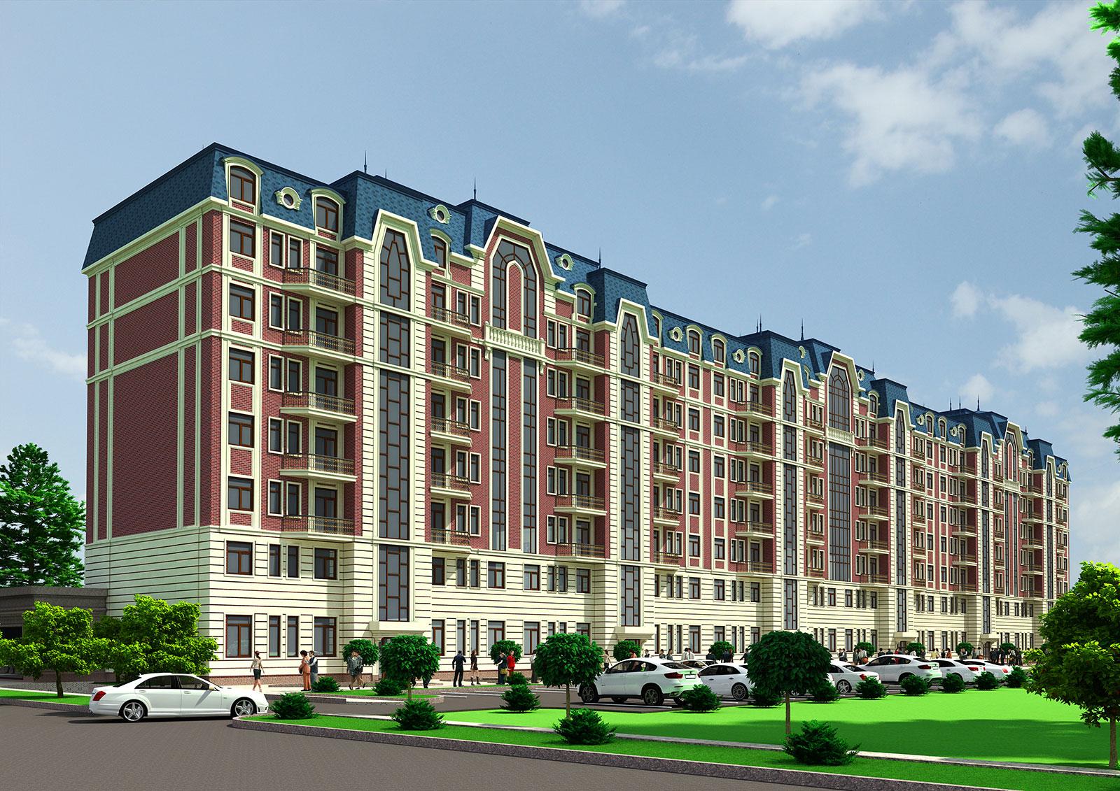 Многоэтажный дом с мансардой в Ташкенте