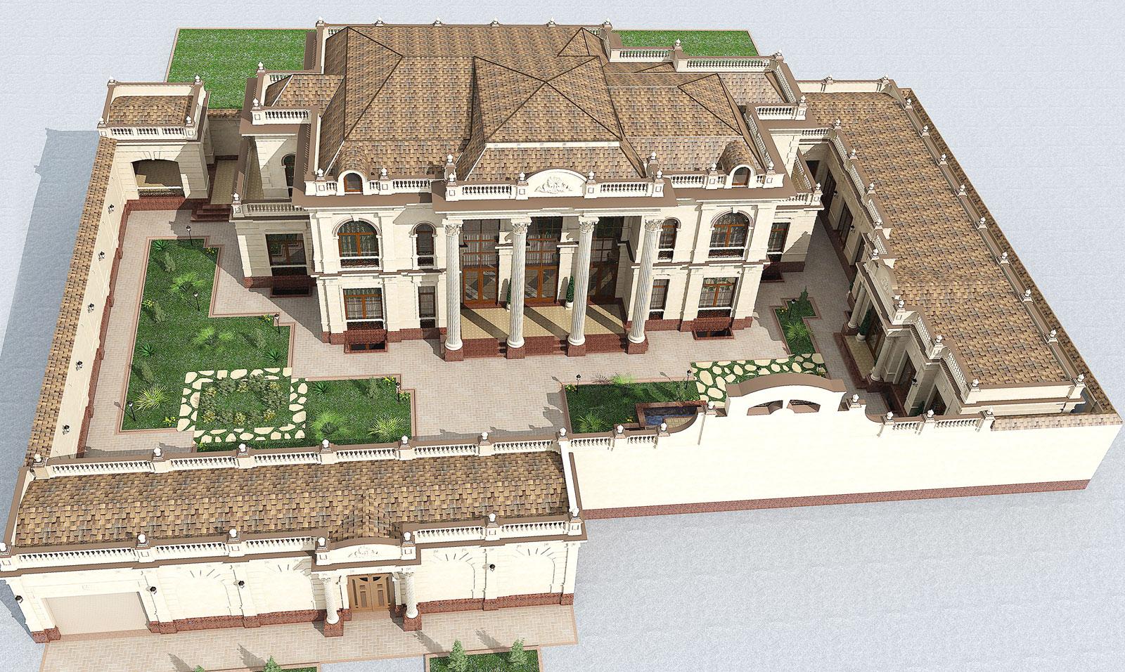 Роскошный дома в классическом стиле