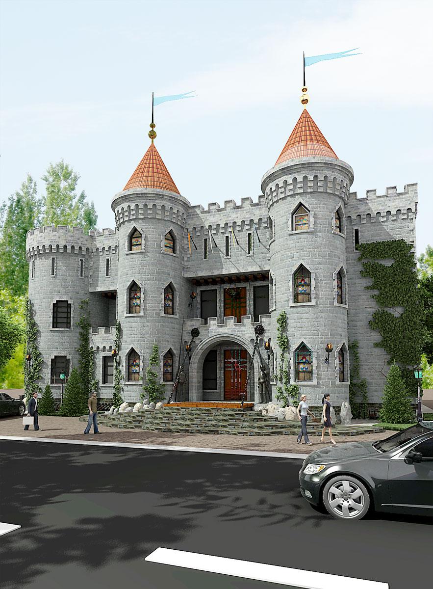 Арт ресторан замок Clun Castle