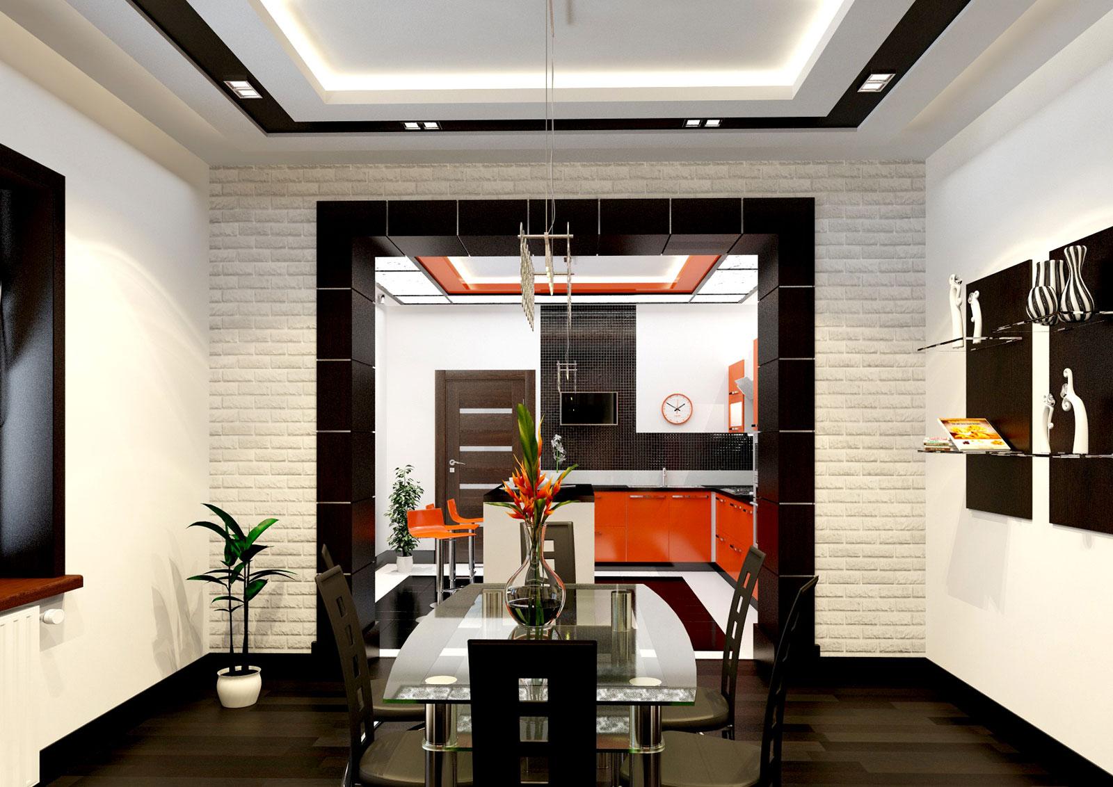 Дизайн интерьера в стиле хай тек