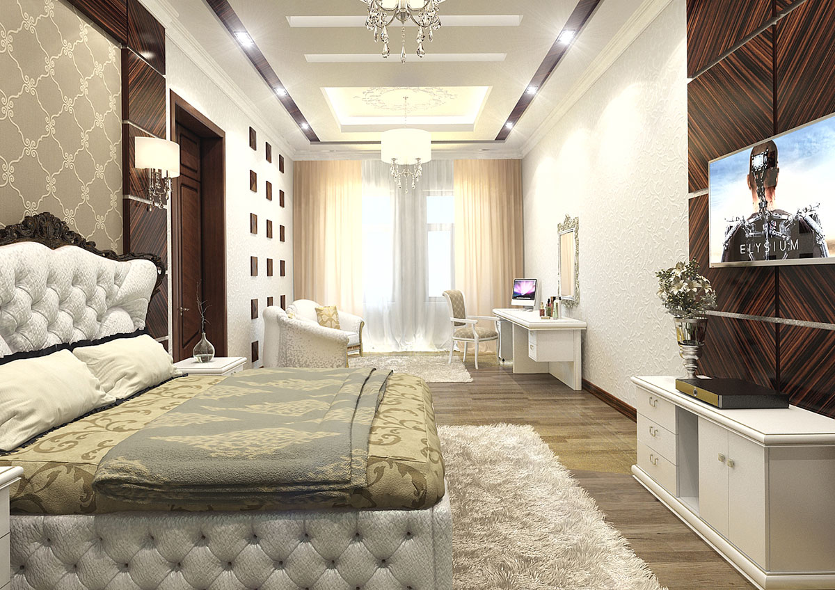 Классический дизайн спальни в Ташкенте