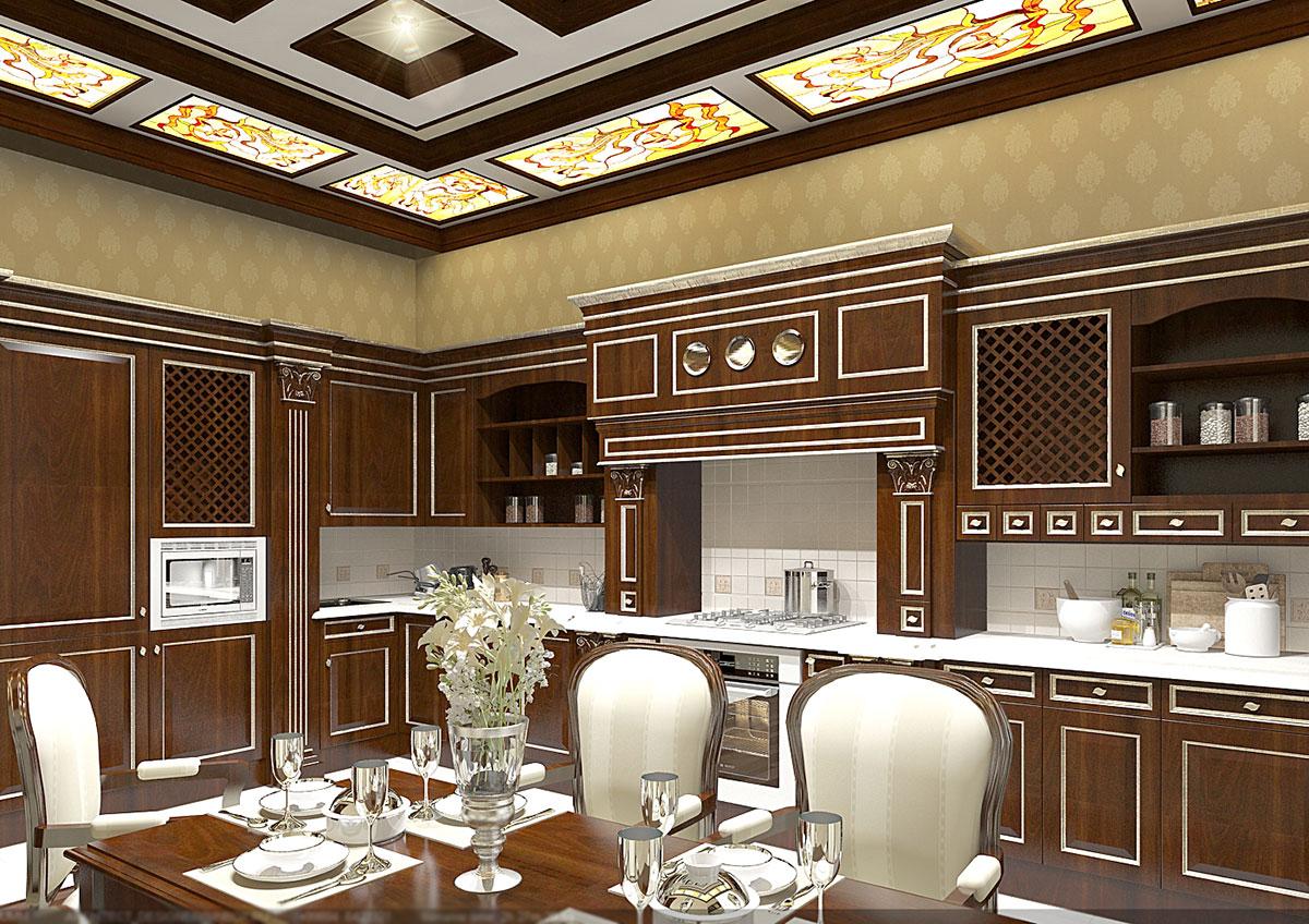 Дизайн интерьера в классическом стиле - дизайн кухни