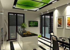 Интерьеры дома в современном стиле - дизайн кухни