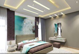 Интерьеры дома в современном стиле - дизайн спальни