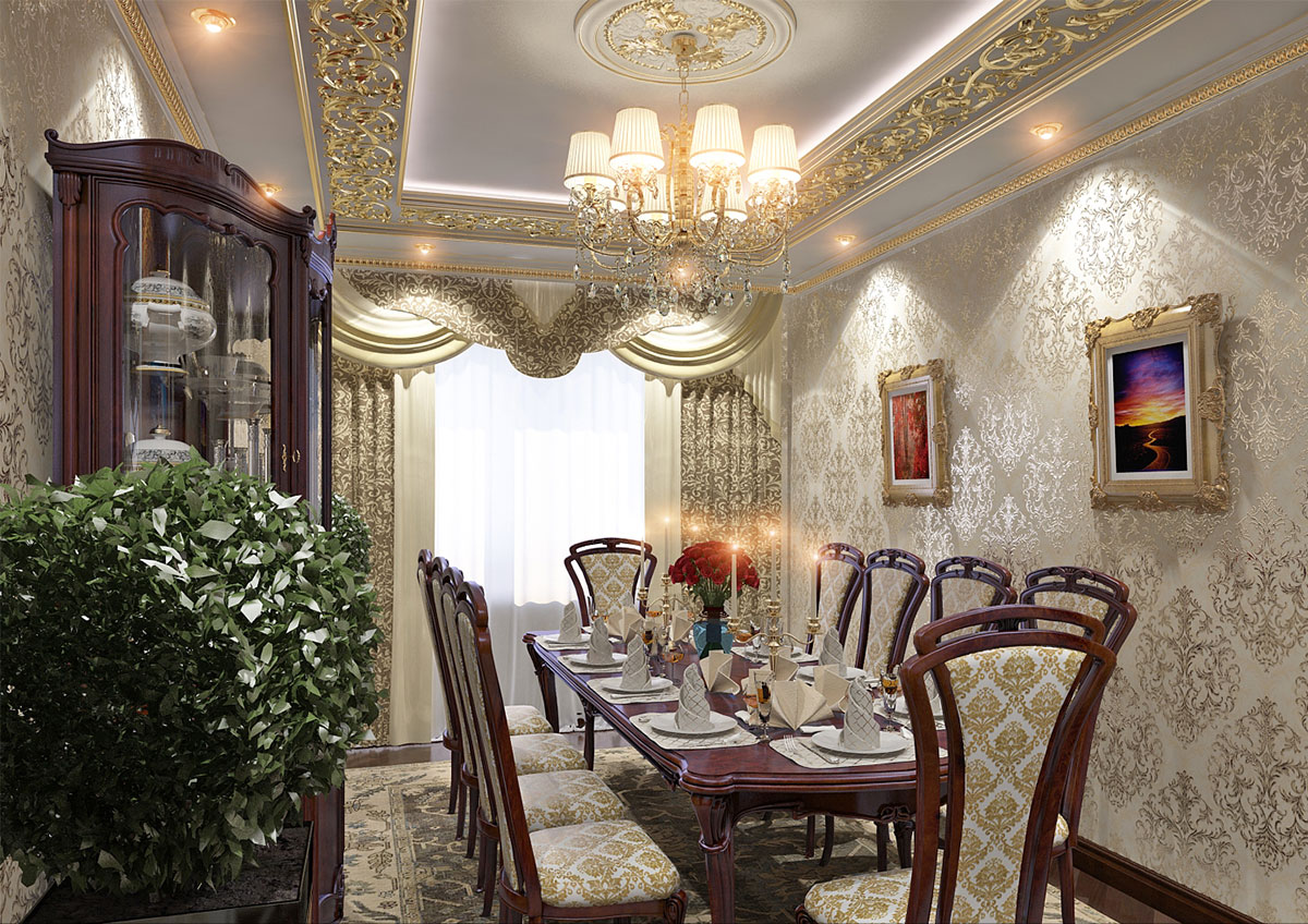 Элегантный дизайн зала
