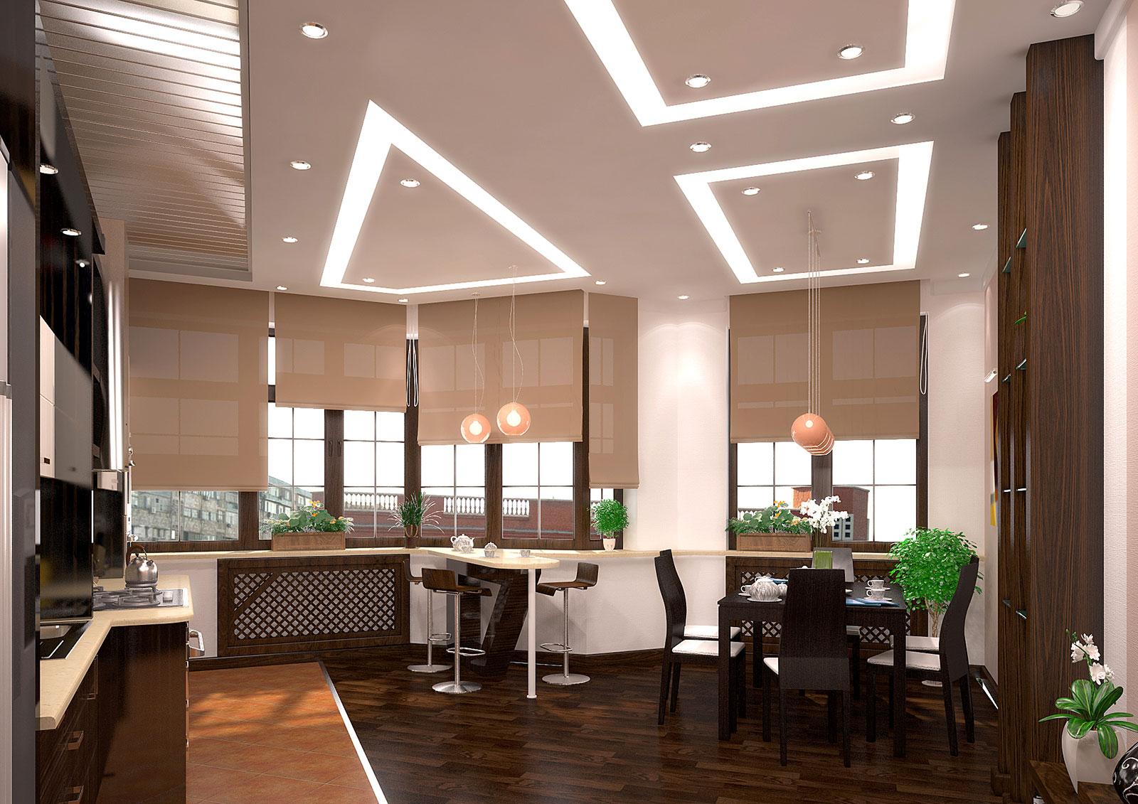 Дизайна интерьера кухни в квартире студии