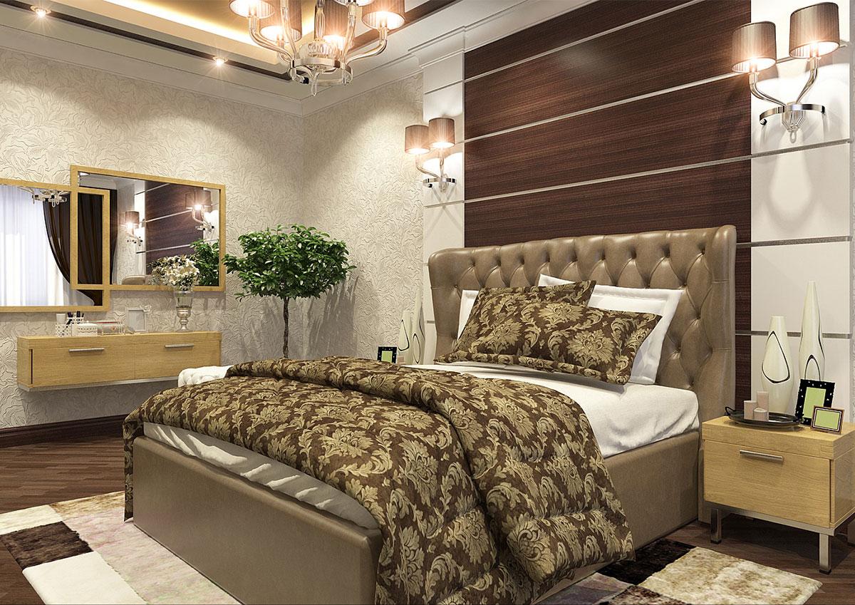 Дизайн интерьера квартиры в современном стиле - дизайн спальной комнаты