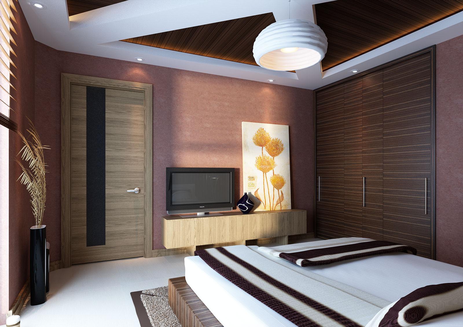 Дизайн интерьера загородного дома - дизайн спальной комнаты