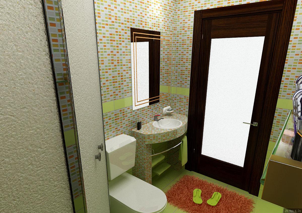 Интерьер частного дома в Ташкенте - дизайн ванной комнаты