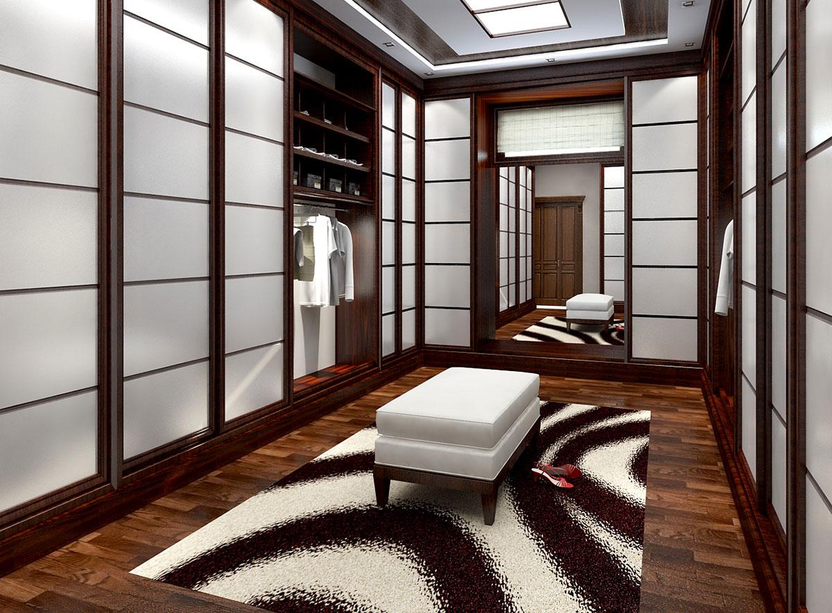 Интерьер частного дома в Ташкенте – гардеробная