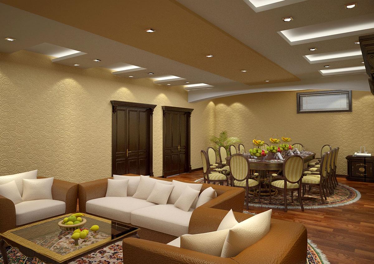 Интерьер частного дома в Ташкенте – дизайн гостиной