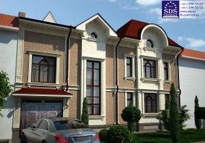 Двухэтажный кирпичный дом в Ташкенте