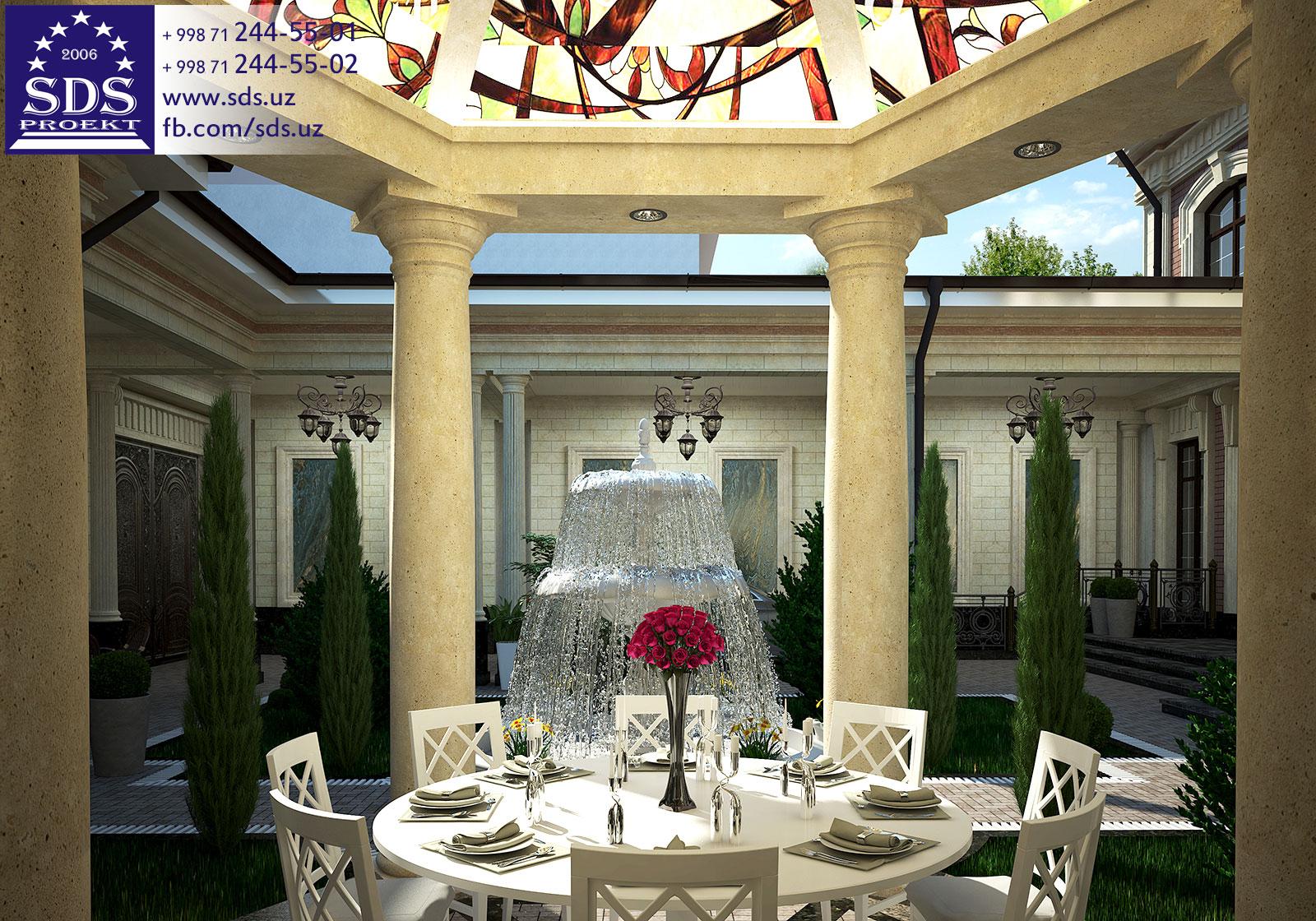 Проект частного дома в Алмазарском районе, г Ташкента