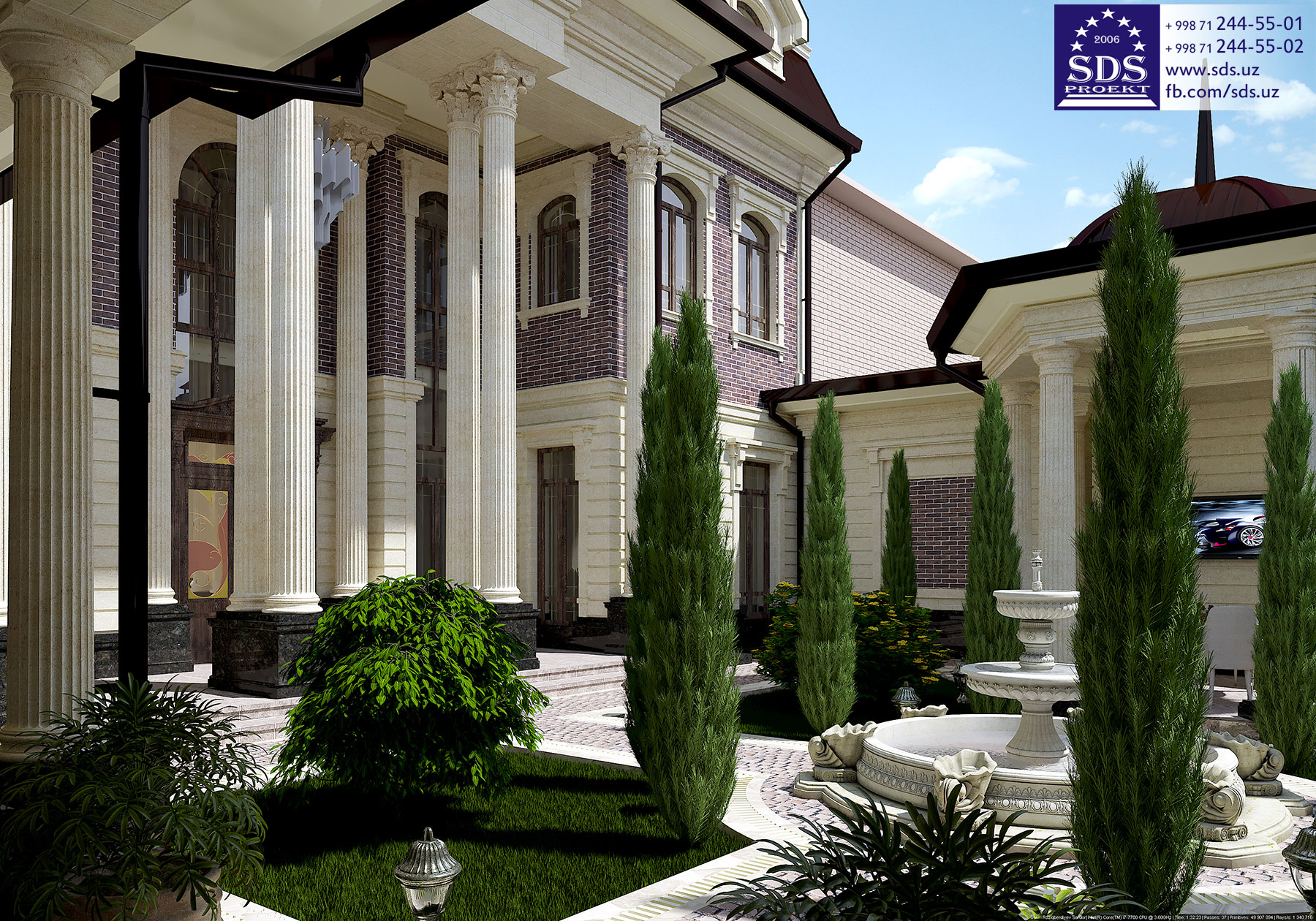 Проект двухэтажного частного дома на ул. Ахунбабаева