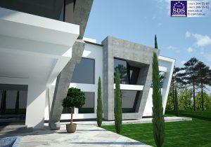 Эскизное предложение административного здания спортивного комплекса Динамо
