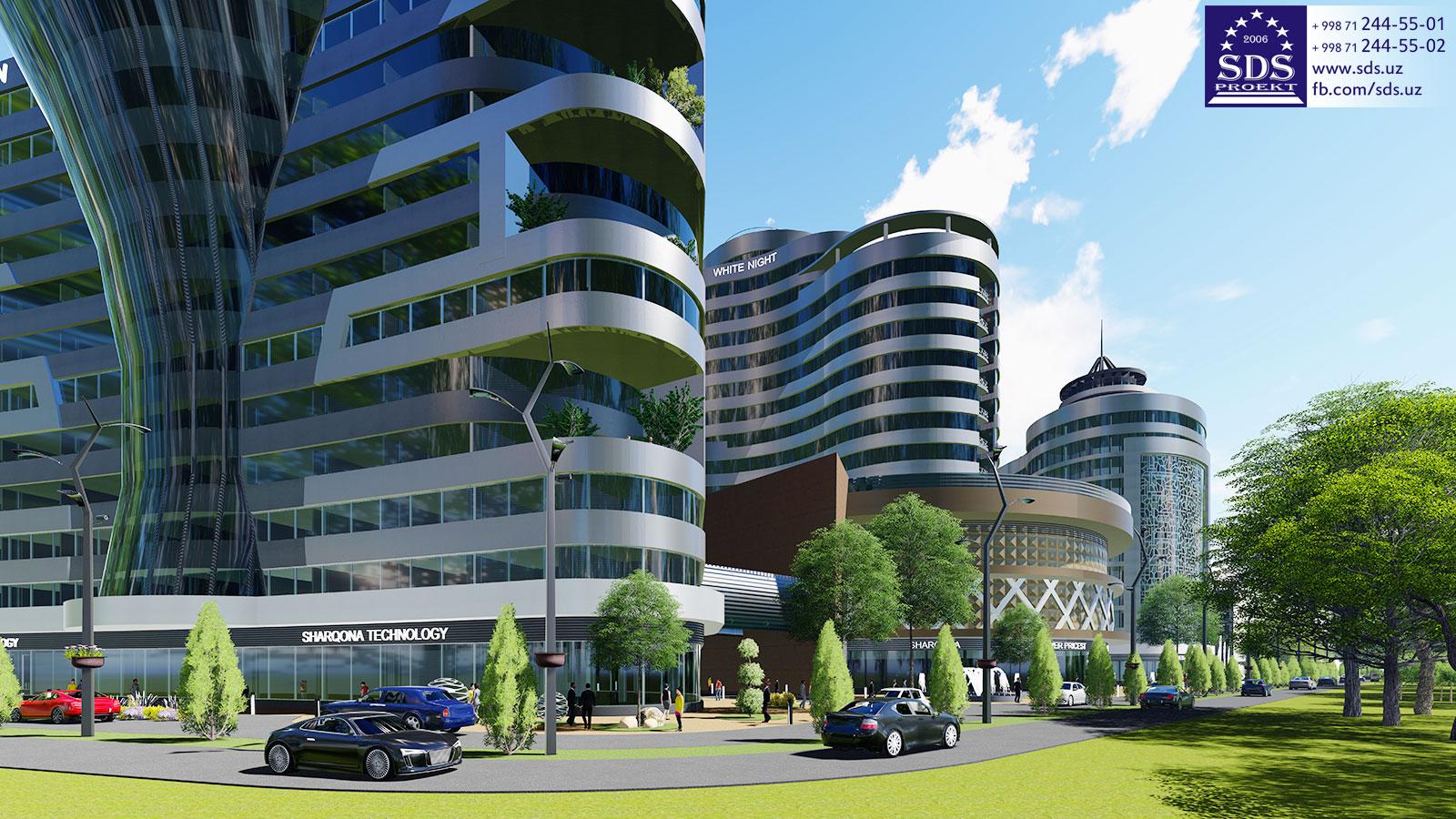 Проект бизнес центра в Сергелийском районе
