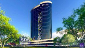 Эскизное предложение бизнес центра в Ташкенте
