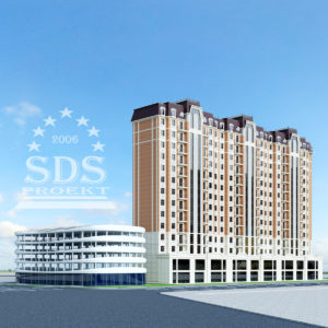 16-этажный дом в центре города Ташкента