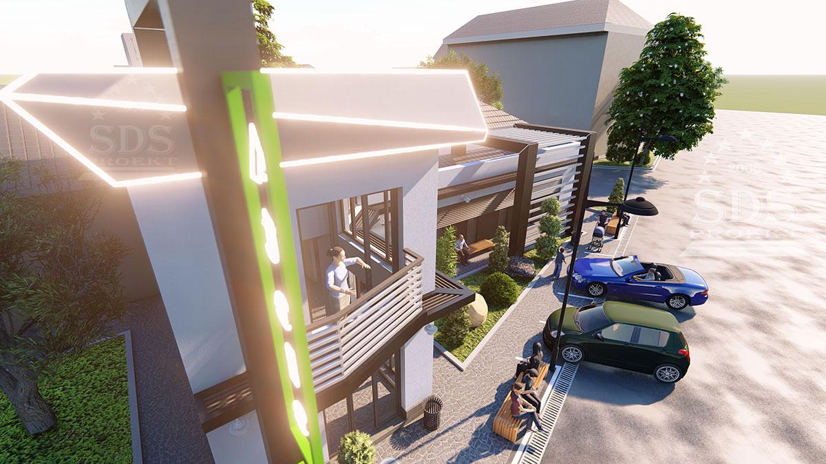 Проект офиса в стиле Хай-тек в Ташкенте