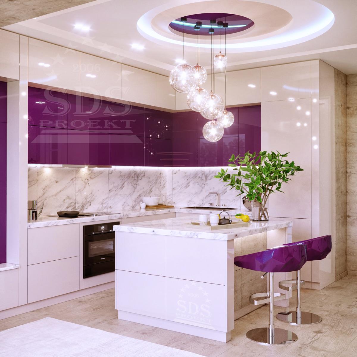 Дизайн кухня студия